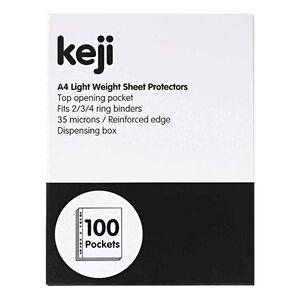 Keji sheet protector a4 light weight 100 pack officeworks keji sheet protector a4 light weight 100 pack colourmoves