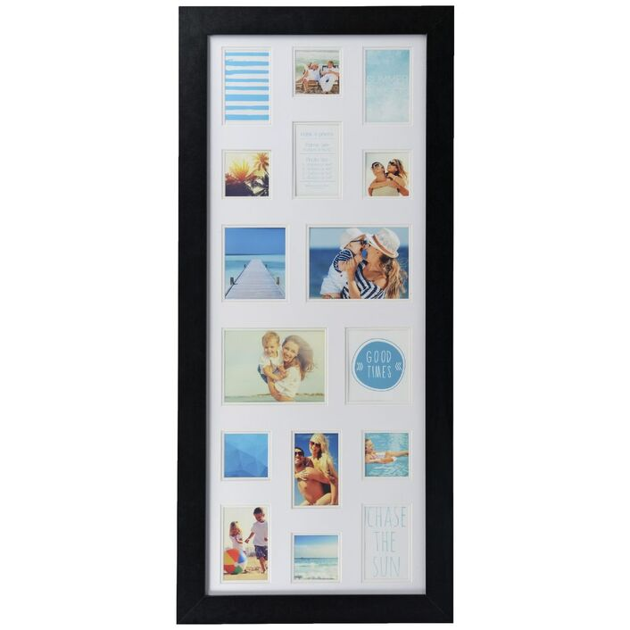 Galleria Frame with 16 Openings Black | Officeworks