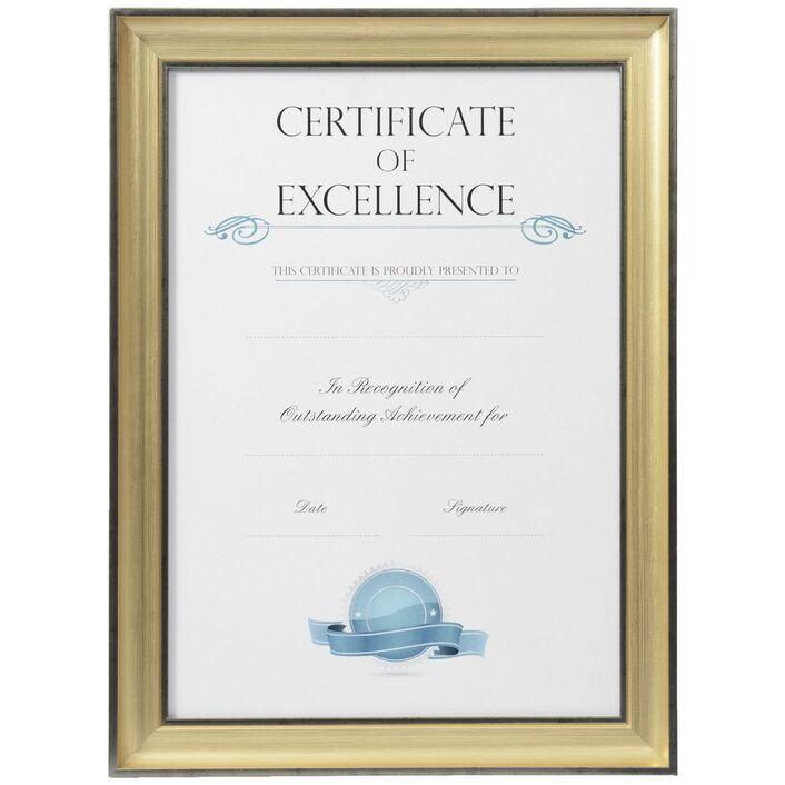 Certificate Frame A3 Black/Gold   Officeworks