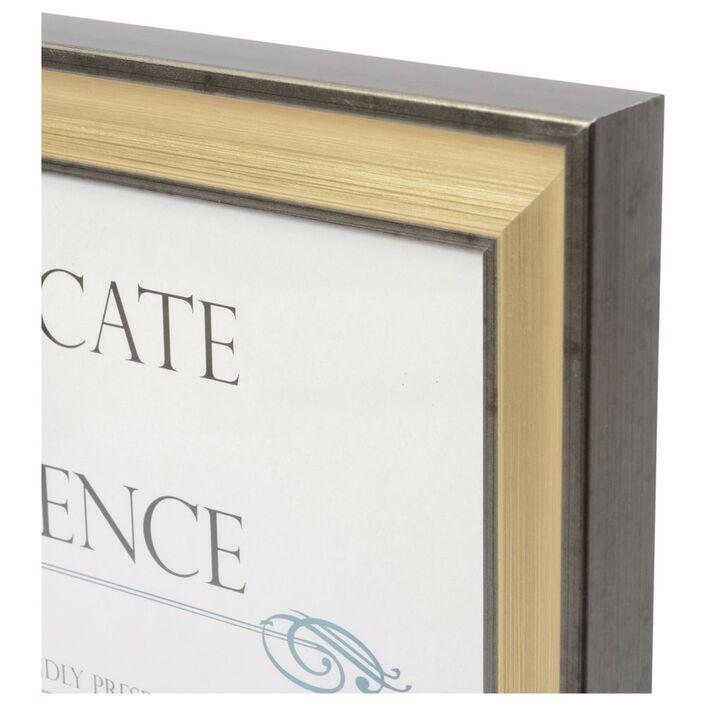 Certificate Frame A4 Black/Gold   Officeworks