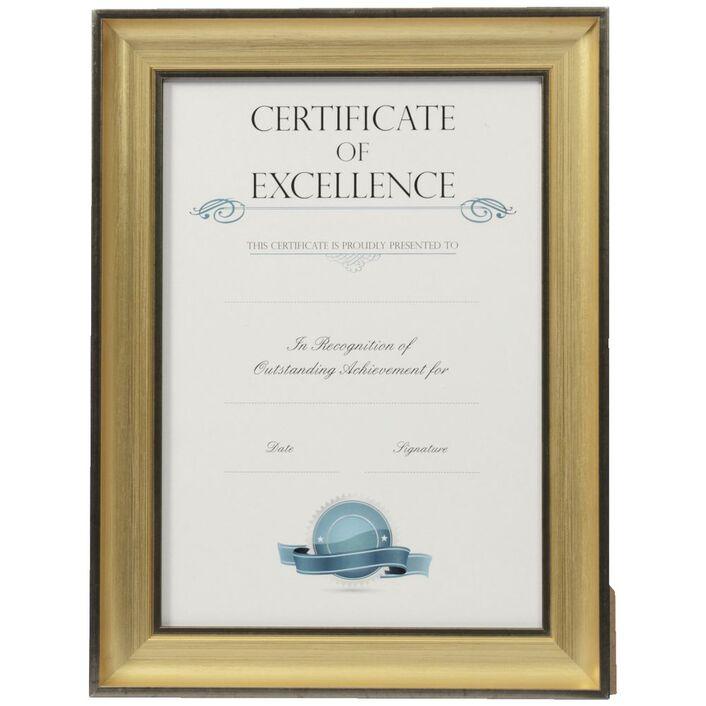 Certificate Frame A4 Blackgold Officeworks
