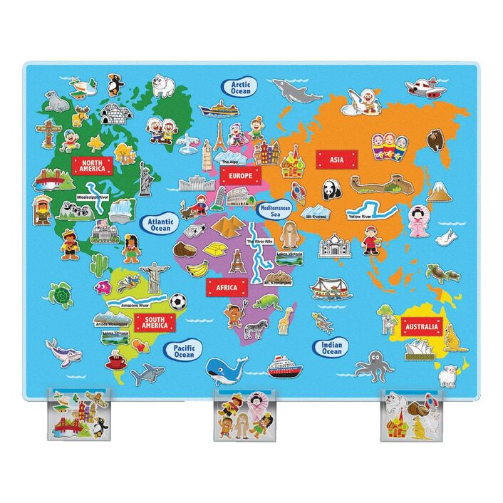 Huge World Felt Map Officeworks - A3 printable world map