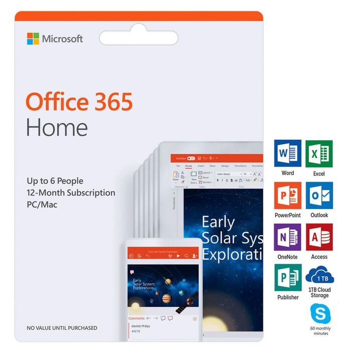 Microsoft Office 365 Home 5 Device 12 Months Download | Officeworks