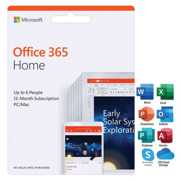 Microsoft Office 365 Home Up To 6 People 12 Months Download