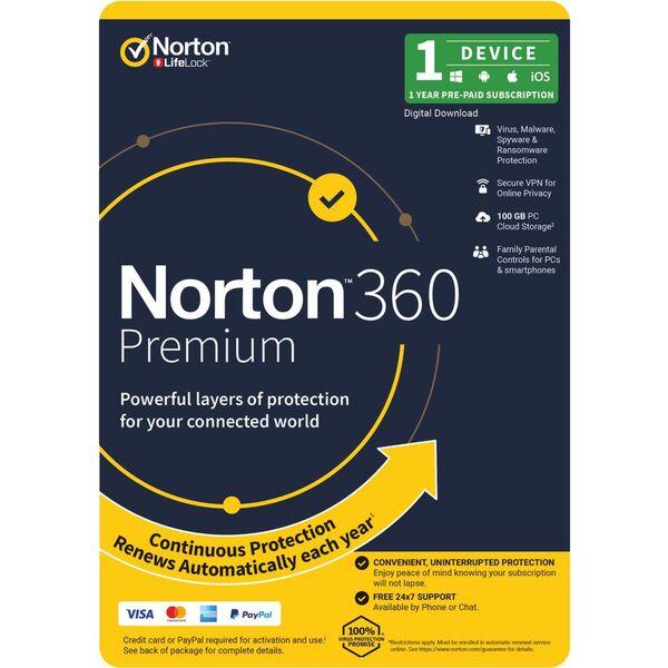 Norton 360 Premium 1 Device 1 Year Download | Officeworks