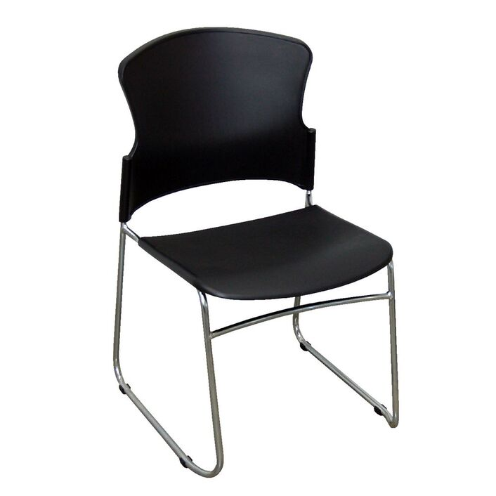 steelco adam stacking chair black officeworks