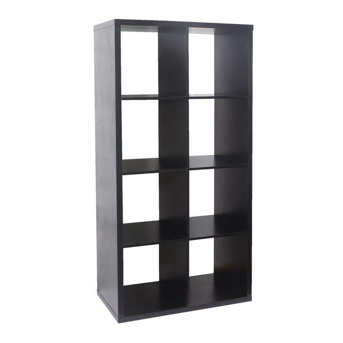 Horsens 8 Cube Bookcase Black   Officeworks