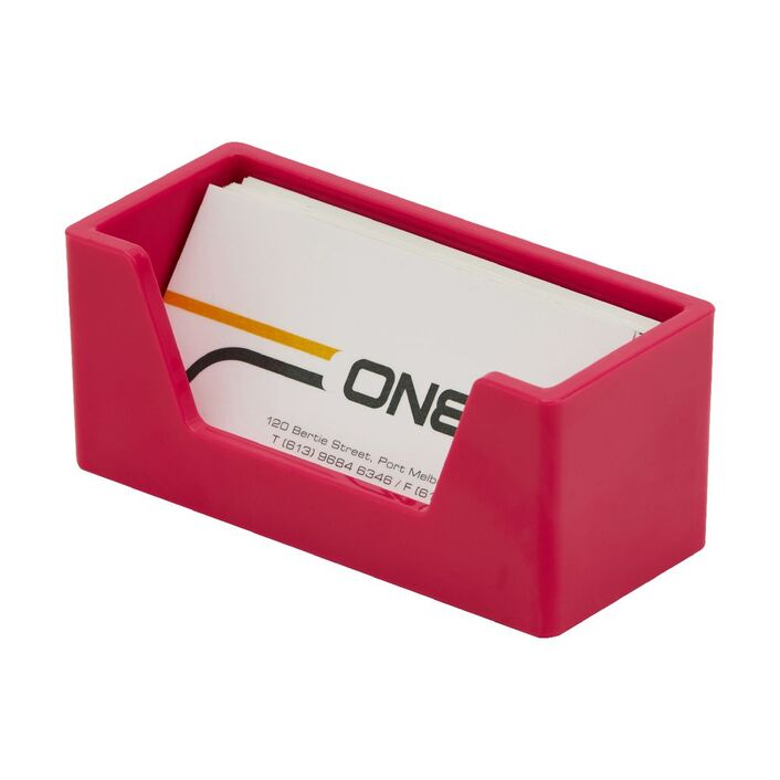 Otto brights business card holder pink officeworks otto brights business card holder pink colourmoves