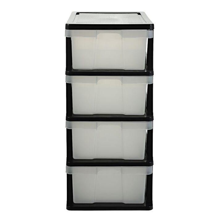 x iris container the with wheels drawers clear s chest store drawer storage