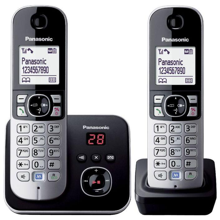 Panasonic cordless phone plus 1 handset kx-tg6822alb.