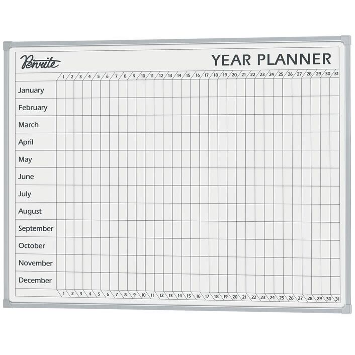 penrite year planner whiteboard 1200 x 900mm officeworks
