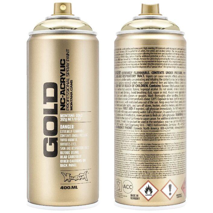 Montana Gold Spray Paint 400ml Goldchrome Officeworks