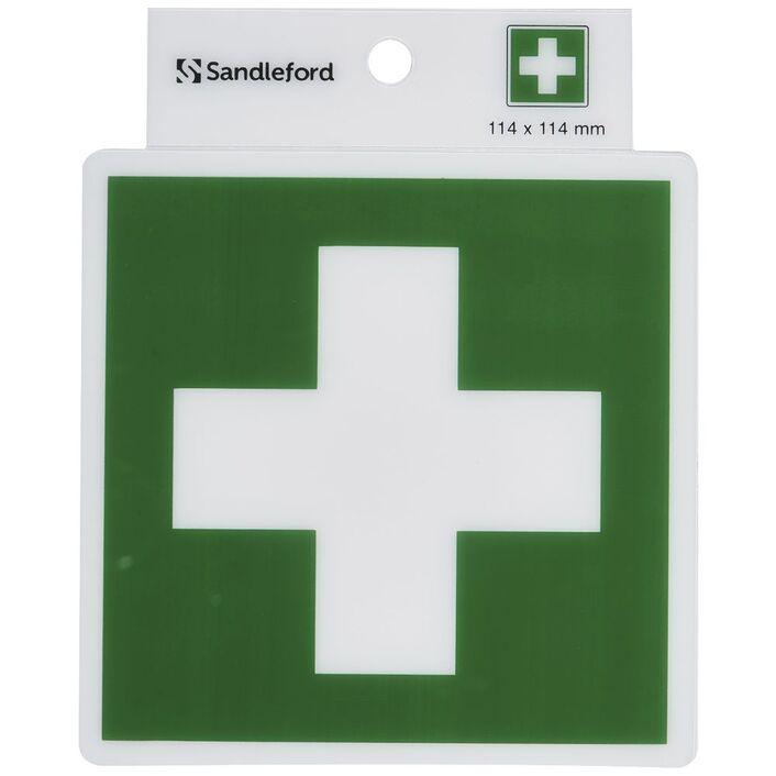 Sandleford First Aid Symbol Self Adhesive Sign Officeworks