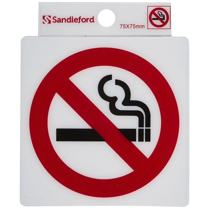 Sandleford No Smoking Symbol Self Adhesive Sign 75 X 75mm Officeworks