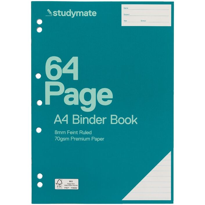 studymate premium a4 binder book 64 page officeworks