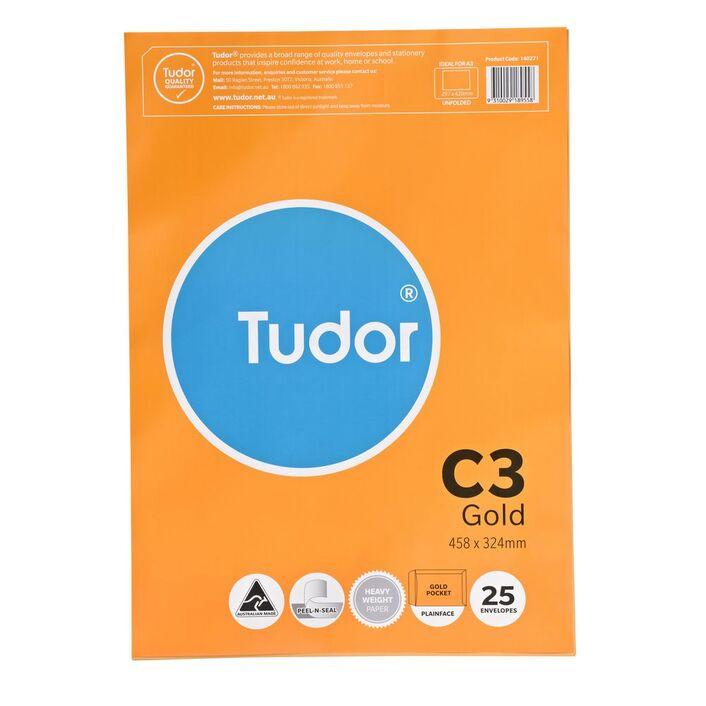 Tudor c3 envelopes gold 25 pack officeworks tudor c3 envelopes gold 25 pack reheart Images