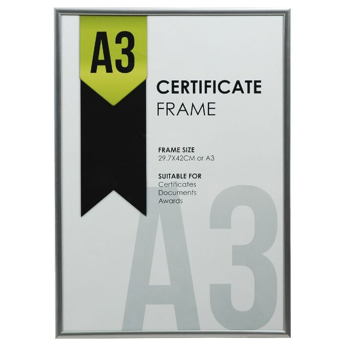 A3 Certificate Frame Silver   Officeworks