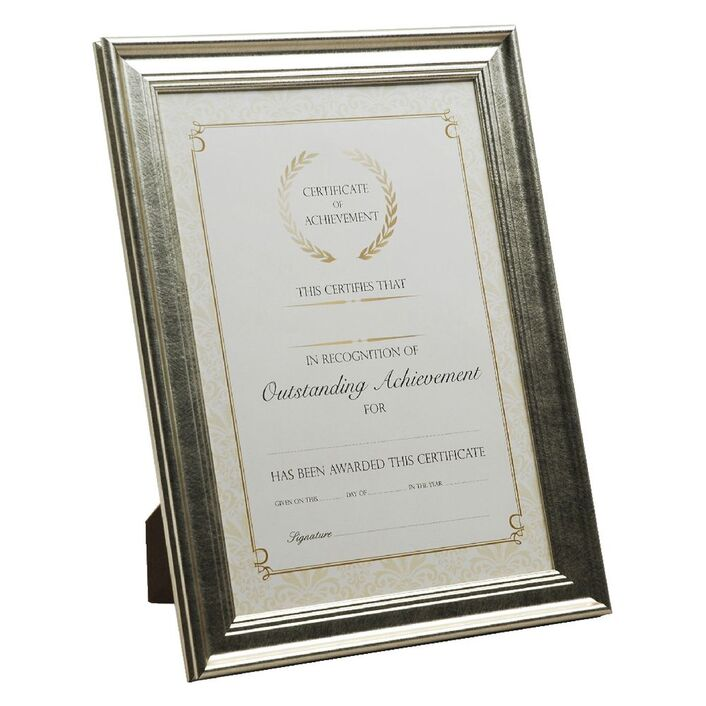 A4 Certificate Frame Gold | Officeworks