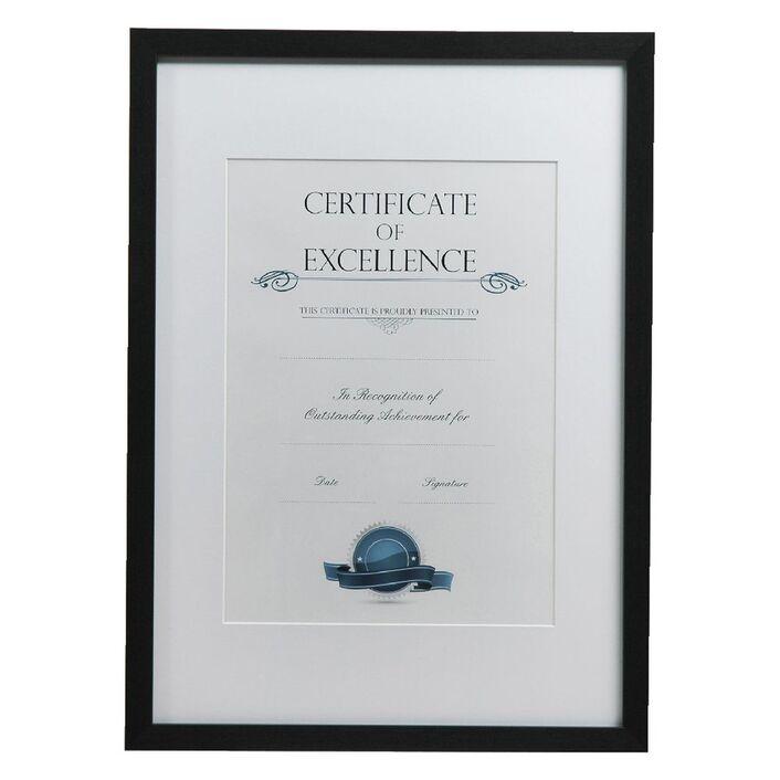 A3 Certificate Frame Brushed Black | Officeworks