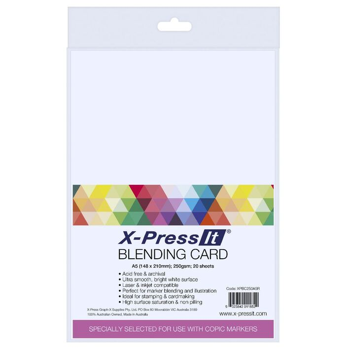 X press it a5 blending card 20 pack