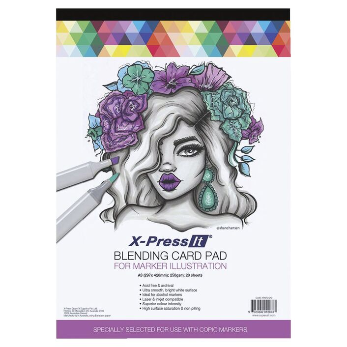 X press it a3 blending card pad