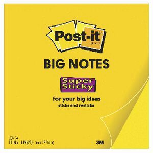 Post it big notes 279 x 279mm yellow 30 sheet officeworks post it big notes 279 x 279mm yellow 30 sheet gumiabroncs Gallery