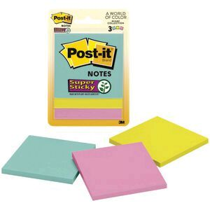 Post It Super Sticky Notes 76 X 76mm Miami 3 Pack Officeworks
