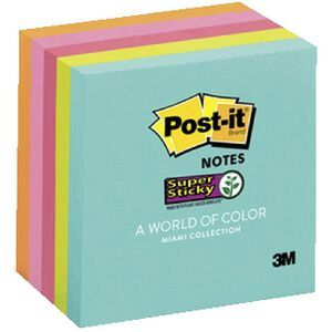 Post It Super Sticky Notes Miami 5 Pack Officeworks