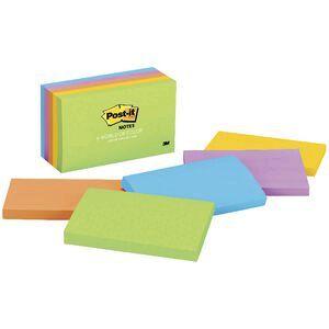 Post It Notes 76 X 127mm Jaipur 5 Pack Officeworks