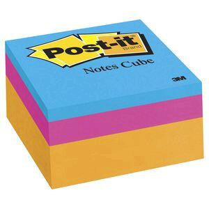 Post It Notes Cube 76 X 76mm Orange Wave Officeworks