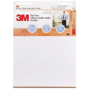 3m flip chart pad 635 x 762mm white officeworks