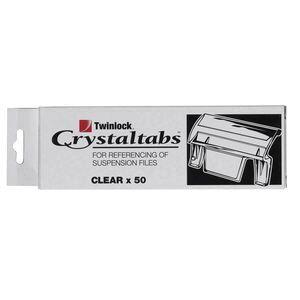 Crystalfile indicator tab clear 50 pack officeworks crystalfile indicator tab clear 50 pack maxwellsz
