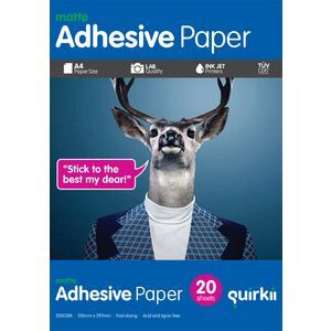 quirkii a4 adhesive paper 20 pack officeworks