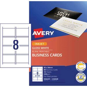 Avery business card starter kit 250gsm glossy 80 pack officeworks avery business card starter kit 250gsm glossy 80 pack reheart