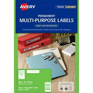 Avery Laser Mini Labels White 25 Sheets 84 Per Page   Officeworks