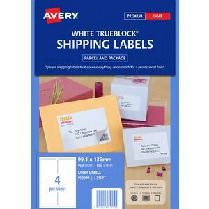 avery laser shipping labels 4up 100 sheets officeworks