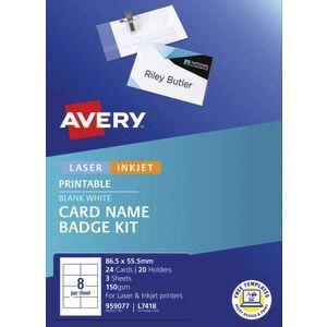 avery name badge kit officeworks