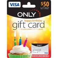 Visa Only 1 Gift Card 50 Birthday