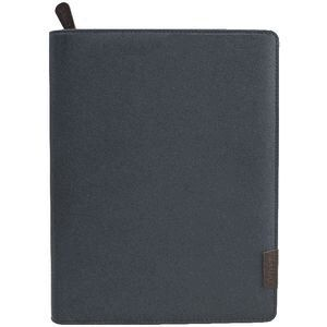 DEBDEN COMPENDIUM DEBDEN QUARTO COMPACT WITH ZIP DARK GREY ( EACH )
