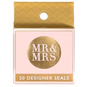 Paper Chic by Cr Mr and Mrs Seals Rose Gold 50 Pack | Officeworks
