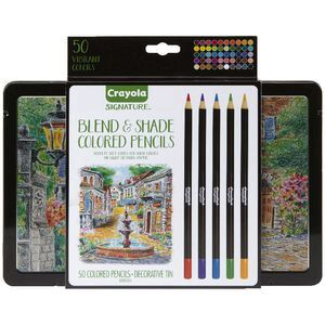Crayola Signature Blend And Shade Coloured Pencils 50 Pack Officeworks