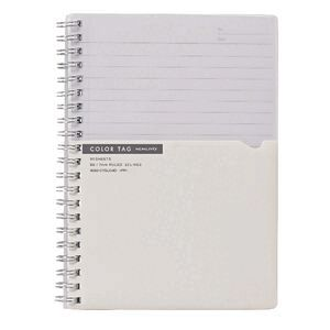 9f055be31e8bd Kokuyo Color Tag B6 Twin Ring Notebook Bi-Color White | Officeworks