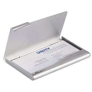 Durable business card box silver officeworks durable business card box silver reheart Gallery