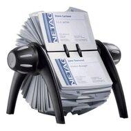 Rotary business card files officeworks durable visifix rotary business card file 400 capacity black colourmoves
