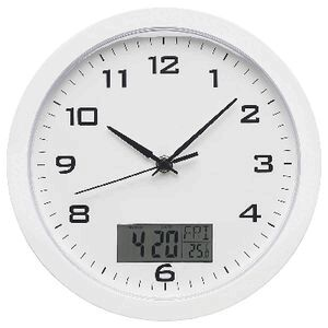 Degree Digital 25cm Clock White Officeworks