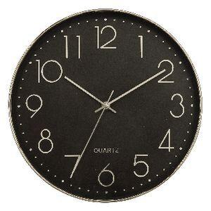 Degree Ebony 30cm Wall Clock Silver Officeworks
