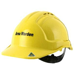 tuffgard vented safety hard hat area warden yellow officeworks