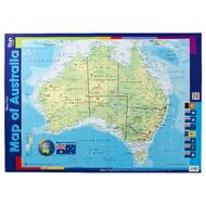 gillian miles map of australia double sided wall chart