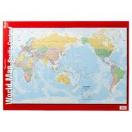 Maps officeworks gillian miles world map double sided wall chart gumiabroncs Gallery