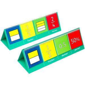Learning can be fun fraction flip chart officeworks